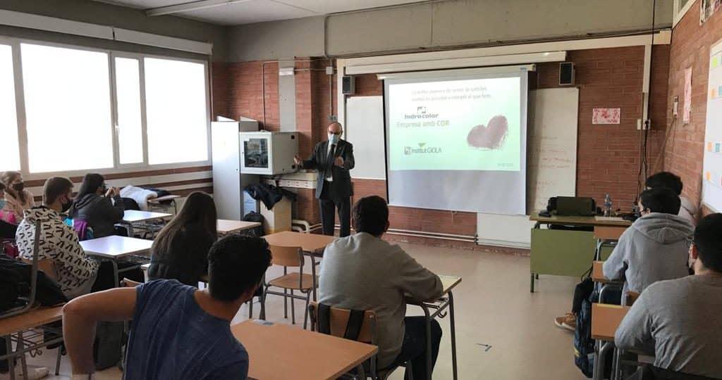 Colloquium with pupils from the Giola Institute in Llinars del Vallès